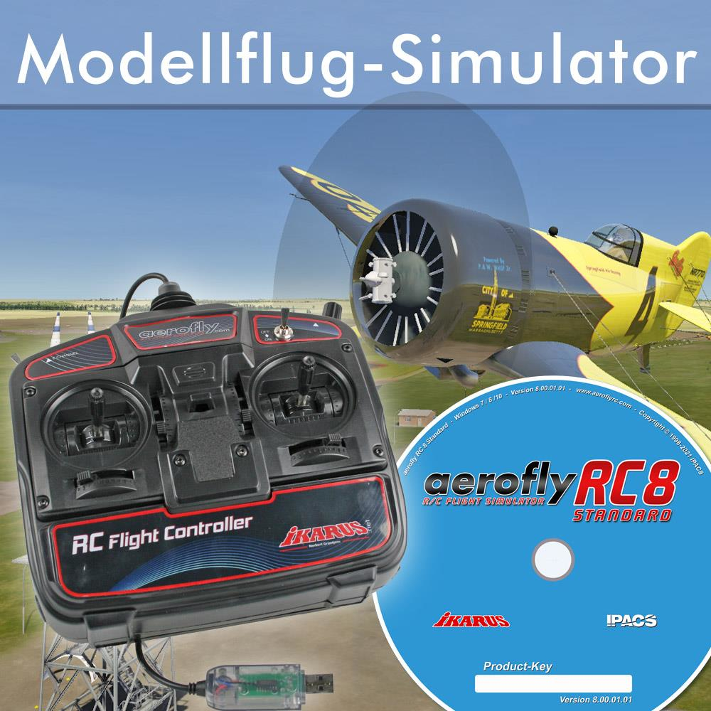 aerofly RC8 Win DVD Flugsimulator mit Commander
