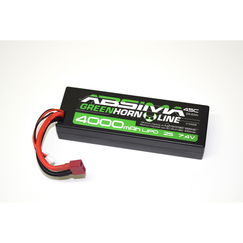 Absima Greenhorn Car LiPo Stick Pack 2S 7.4V-45C 4000...