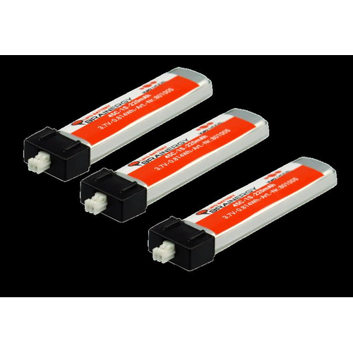 3x Brainergy LiPo 1s1p 3,7V 220mAh 45C JST EH